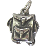 Vintage Cellini Sterling Backpack or Knapsack Charm