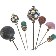 Vintage Rhinestone Glass Lucite Hat Pin Collection
