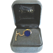 Vintage Lapis Lazuli Tie Tack by Christian Dior in Original Box