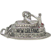 Vintage Mechanical Sterling New Orleans River Boat Charm