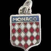 Vintage Enamel Sterling Monaco Travel Shied Charm