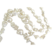 Beautiful Baroque Fresh Water Pearl Necklace- 26 Inches