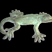 Stunning Vintage Solid Brass Lizard