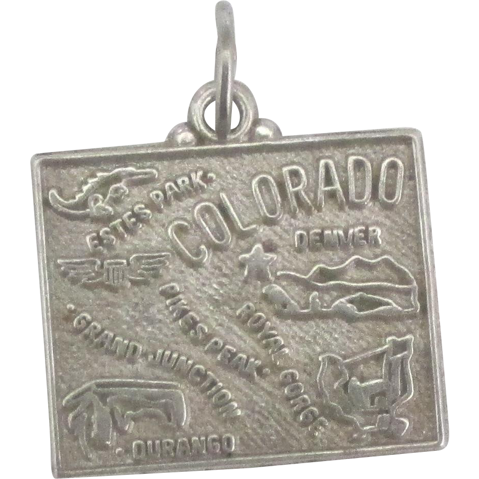 Vintage sterling colorado state charm del mar classique for Jewelry making classes san diego