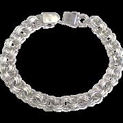 Vintage Sterling Triple Link Starter Charm Bracelet