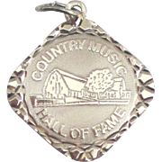Vintage Sterling Country Music Hall of Fame Charm