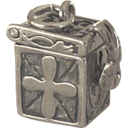 Lovely Vintage Sterling Prayer Box Pendant