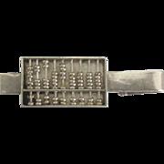 Unique Vintage Sterling Moving Abacus Tie Bar Clip