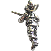 Vintage Crest Sterling USMC Infantryman Charm