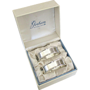 Vintage Gorham Napkin Rings- Set of 2 in Original Box