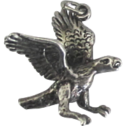 Vintage Sterling Detailed American Eagle Charm