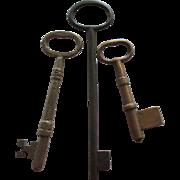 Large Vintage Metal Skeleton Keys- 3
