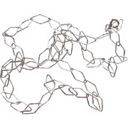 "Wonderful Italian Sterling Diamond Shaped Chain 20"" Necklace"