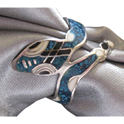 Charming Vintage Taxco Sterling Snake Ring