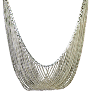 Stunning Sterling Multiple Chain Draped Necklace