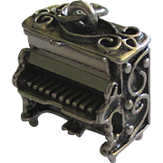 Vintage Beau Sterling Mechanical Upright Piano Charm