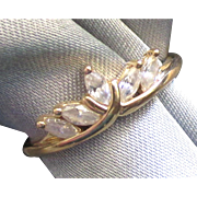 Regal 14K CZ Tiara Crown Ring- Size 6 1/2