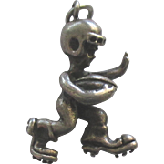Vintage Beau Sterling Football Player Charm