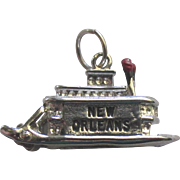 Vintage Sterling New Orleans Paddle Wheel Boat Charm
