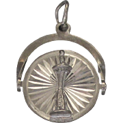 Sterling Double Sided Spinner Seattle Space Needle Charm