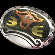 Vintage Signed Los Ballesteros Sterling Animal Brooch or Pendant