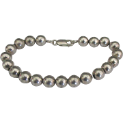 Vintage Sterling 8 mm Bead Bracelet