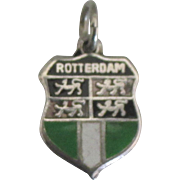 Vintage 825 Silver Rotterdam Holland Netherlands Travel Shield Charm