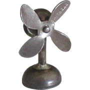 1940's Sterling Mechanical Electric Fan Charm