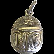 Vintage Sterling Scarab Beetle Pendant