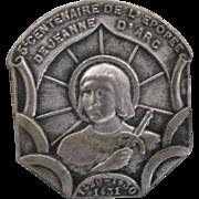 Vintage 500 Year Centennial of Joan of Arc Brooch