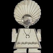 Large Vintage Sterling NA Signed Sun God Pendant or Brooch