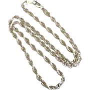 Thick Twisted Link Sterling Necklace- 24 Inches