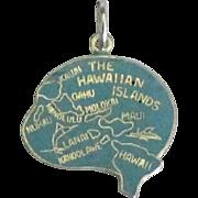 Vintage Enamel Sterling Hawaiian Island Charm