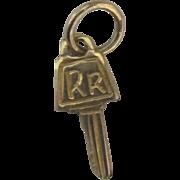 Vintage 14K YG Rolls Royce Key Charm