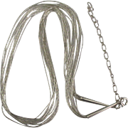 Lovely Liquid Sterling 10 Strand 24 Inch Necklace