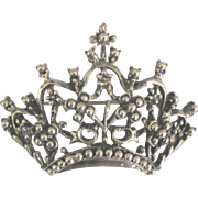 Danecraft Sterling Crown Brooch