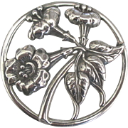 Old Danecraft Sterling Floral Brooch