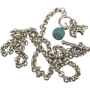 Heavy Guage Sterling Rolo Chain with Toggle and Charms