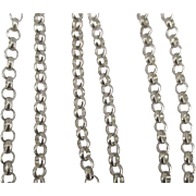 Vintage Sterling Rolo or Belcher Link Chain Necklace- 24 inches