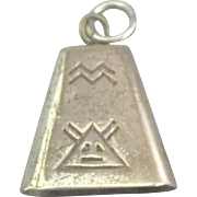 Vintage Navajo Sterling Bell Pendant or Charm
