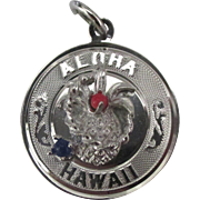 "Vintage Sterling Hawaii Pineapple ""Aloha"" Charm"