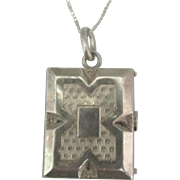 1930's Sterling Art Deco Rectangular Locket