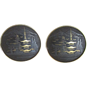 Large Amati Damascene Cuff Links