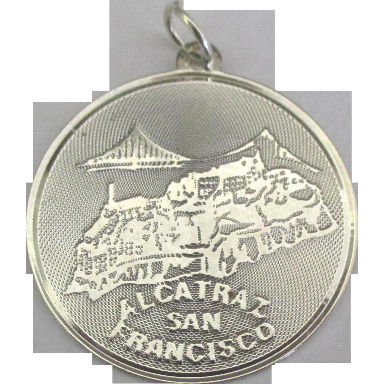 Large Vintage Sterling Alcatraz Island San Francisco Charm