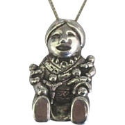 Vintage Sterling Storyteller Pendant and Chain