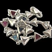 Lovely Italian Sterling Gemstone Bracelet