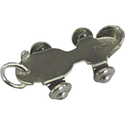 Vintage Sterling Mechanical Sidewalk Skate Charm