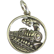 Vintage Sterling Steam Train Charm