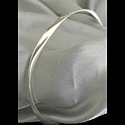 Lovely Sterling Asymetrical Bangle Bracelet
