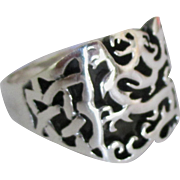 Men's Estate Sterling Celtic Ring- Size 11